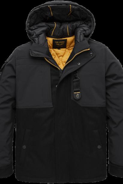 PME veste à capuche en laine et softshell superwire