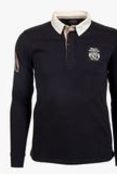 CLASSIC ALL BLACKS  polo rugby vintage à manches longues