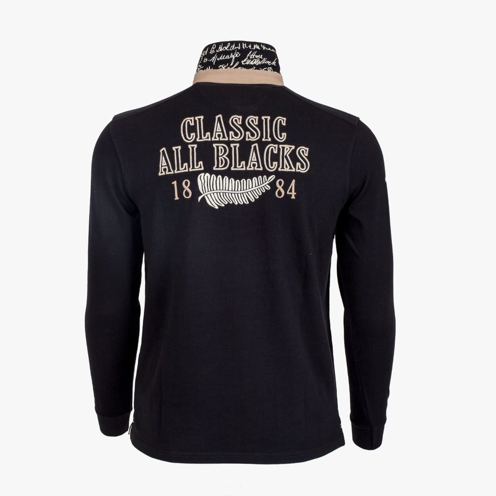 CLASSIC ALL BLACKS  polo rugby vintage à manches longues-2