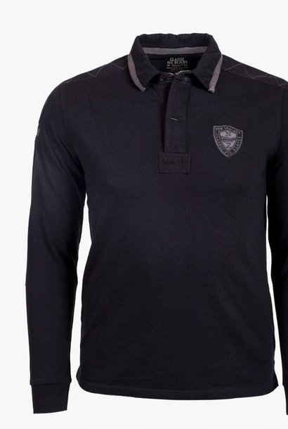 CLASSIC ALL BLACKS polo à manche longues full black