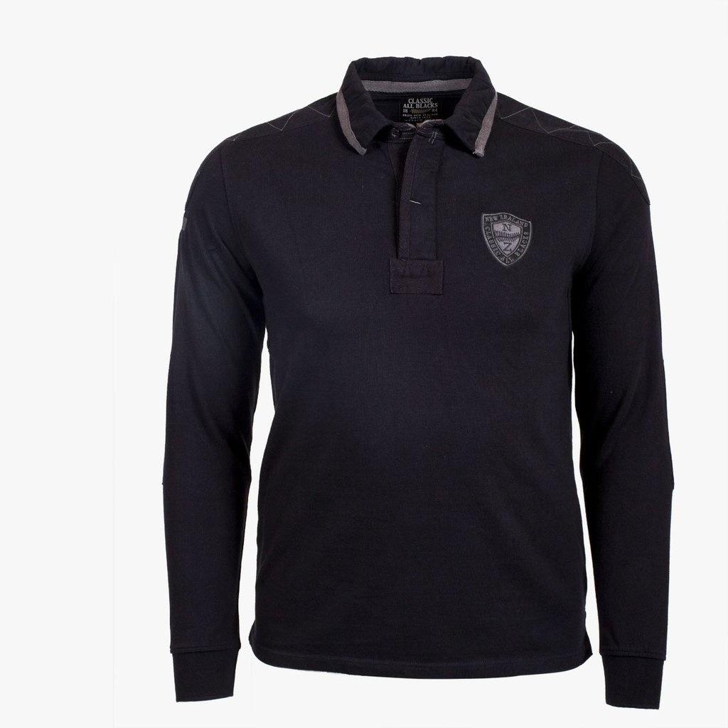 CLASSIC ALL BLACKS polo à manche longues full black-1