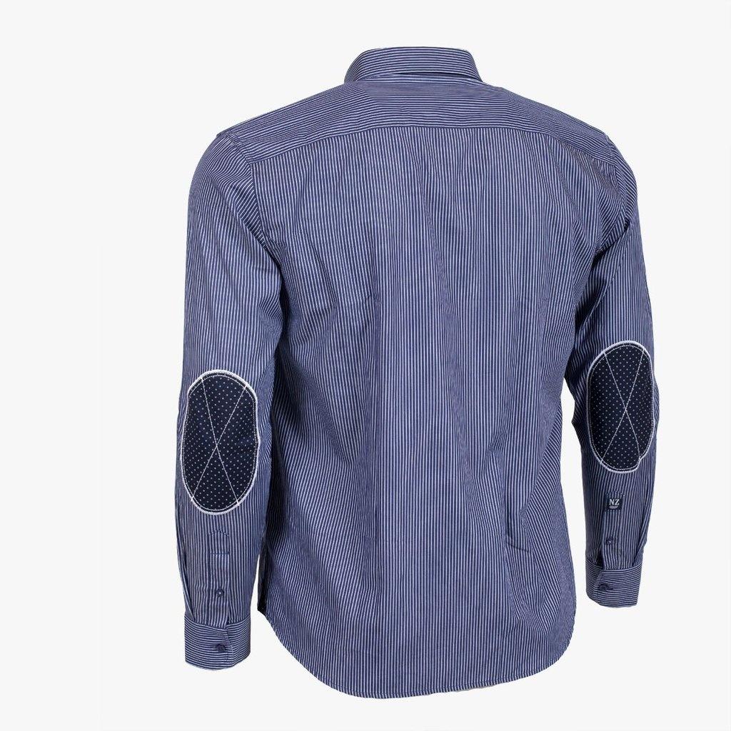 CLASSIC ALL BLACKS chemise rayée et coudières contrastées-2
