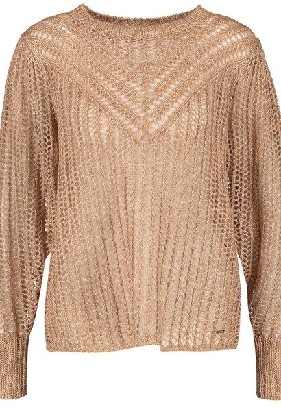 TAIFUN pull tricot léger et aéré motif ajouré