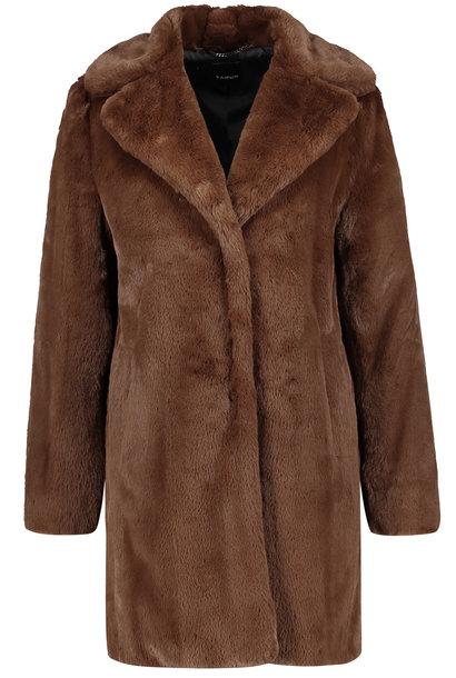 TAIFUN manteau en fausse fourrure douce court