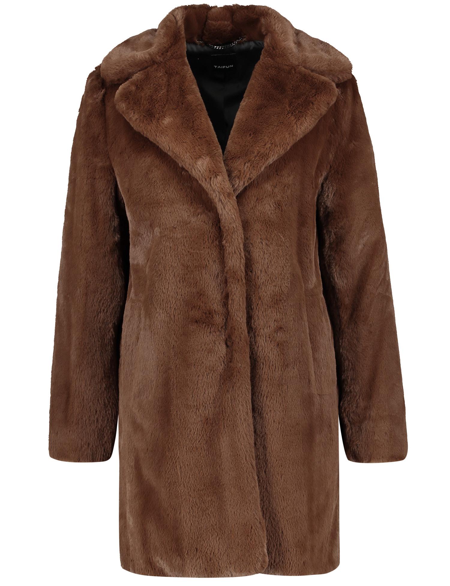 TAIFUN manteau en fausse fourrure douce court-1