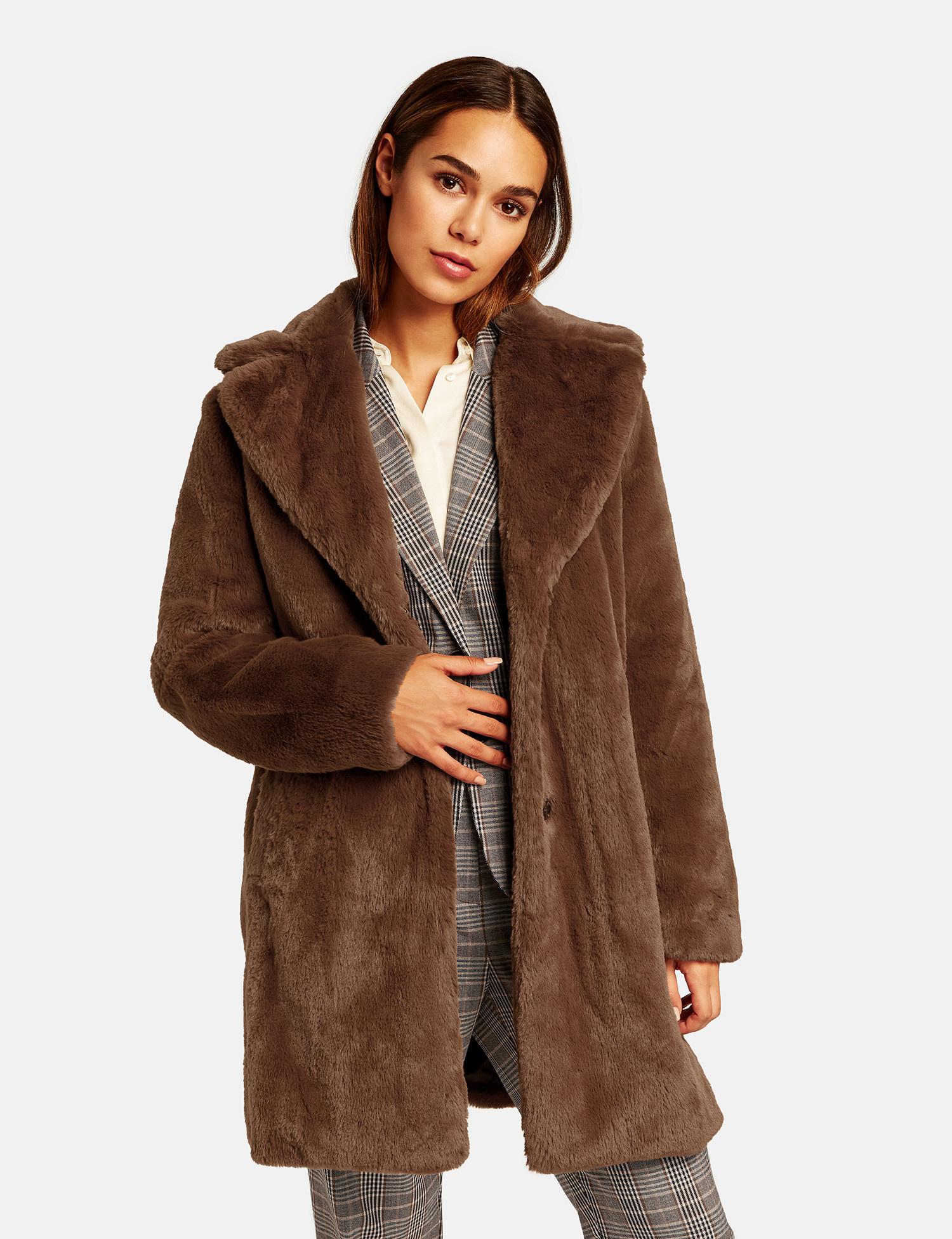 TAIFUN manteau en fausse fourrure douce court-2