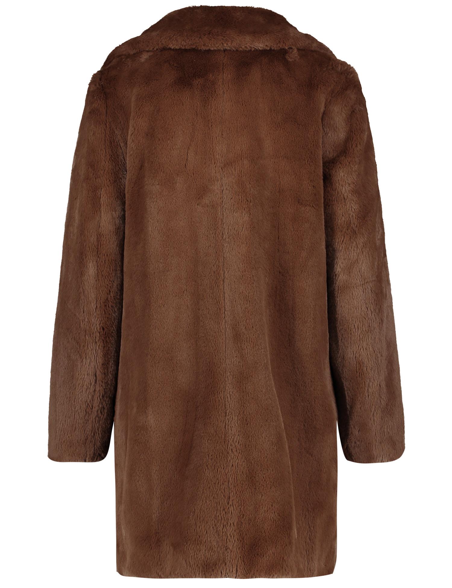 TAIFUN manteau en fausse fourrure douce court-3