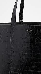ANINE BING sac cabas croco-4