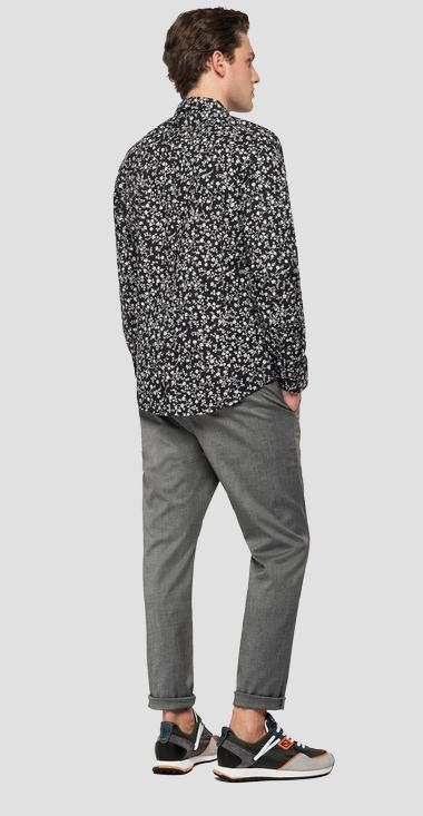REPLAY chemise en popeline imprimé all over-3