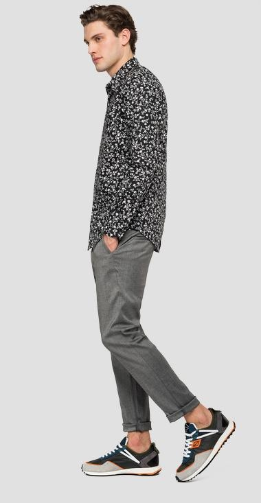 REPLAY chemise en popeline imprimé all over-4