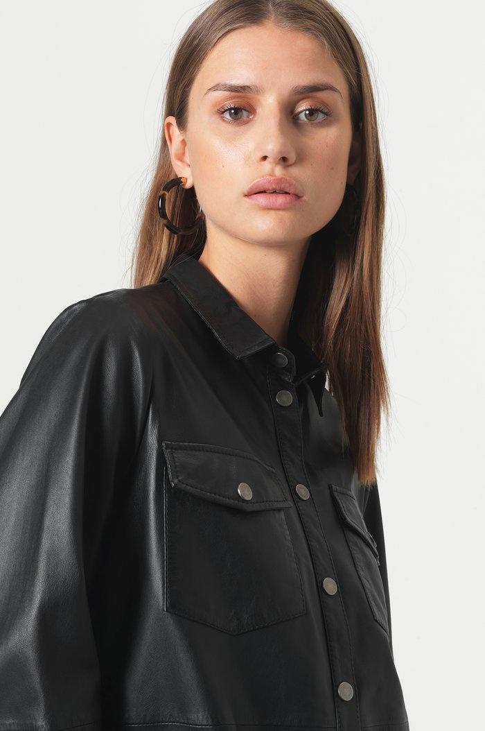 SECOND FEMALE chemise cuir gitte-2