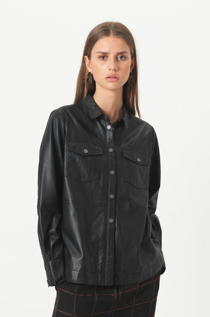 SECOND FEMALE chemise cuir gitte-4
