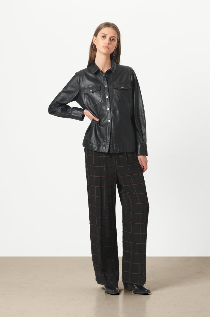 SECOND FEMALE chemise cuir gitte-5