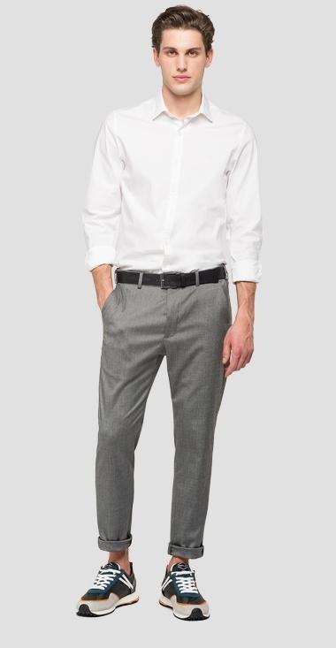 REPLAY pantalon chiné à poches-1