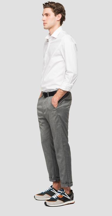 REPLAY pantalon chiné à poches-2