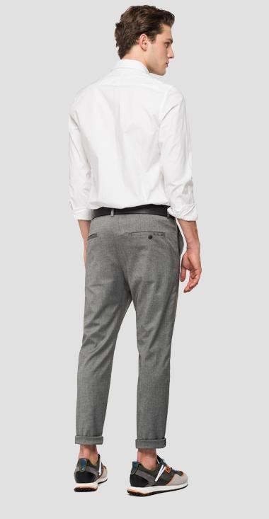 REPLAY pantalon chiné à poches-3