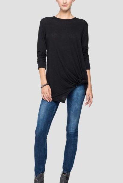 REPLAY T-shirt en lin à manches longues