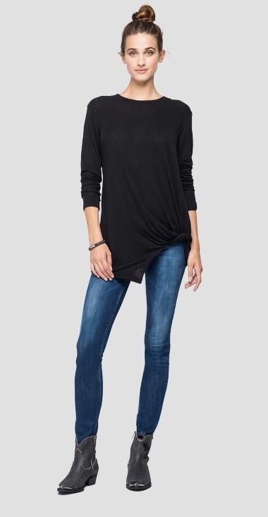 REPLAY T-shirt en lin à manches longues-1