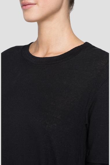 REPLAY T-shirt en lin à manches longues-4