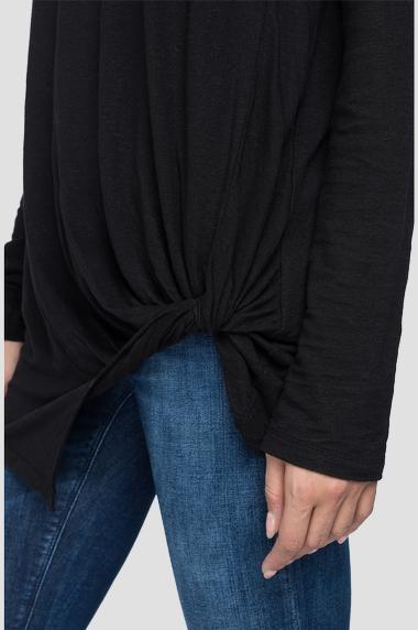REPLAY T-shirt en lin à manches longues-5