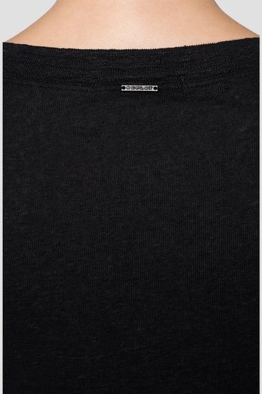 REPLAY T-shirt en lin à manches longues-6