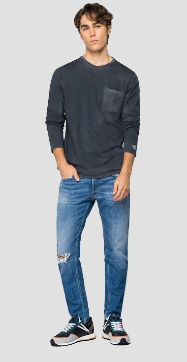REPLAY T-shirt longues manches-1