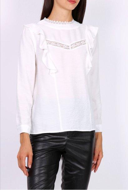 PEPITES blouse lea blanche