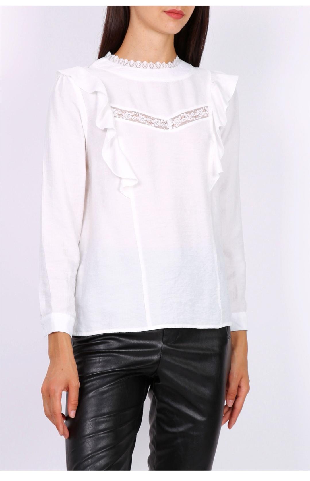 PEPITES blouse lea blanche-1