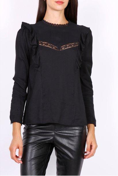 PEPITES blouse lea noire