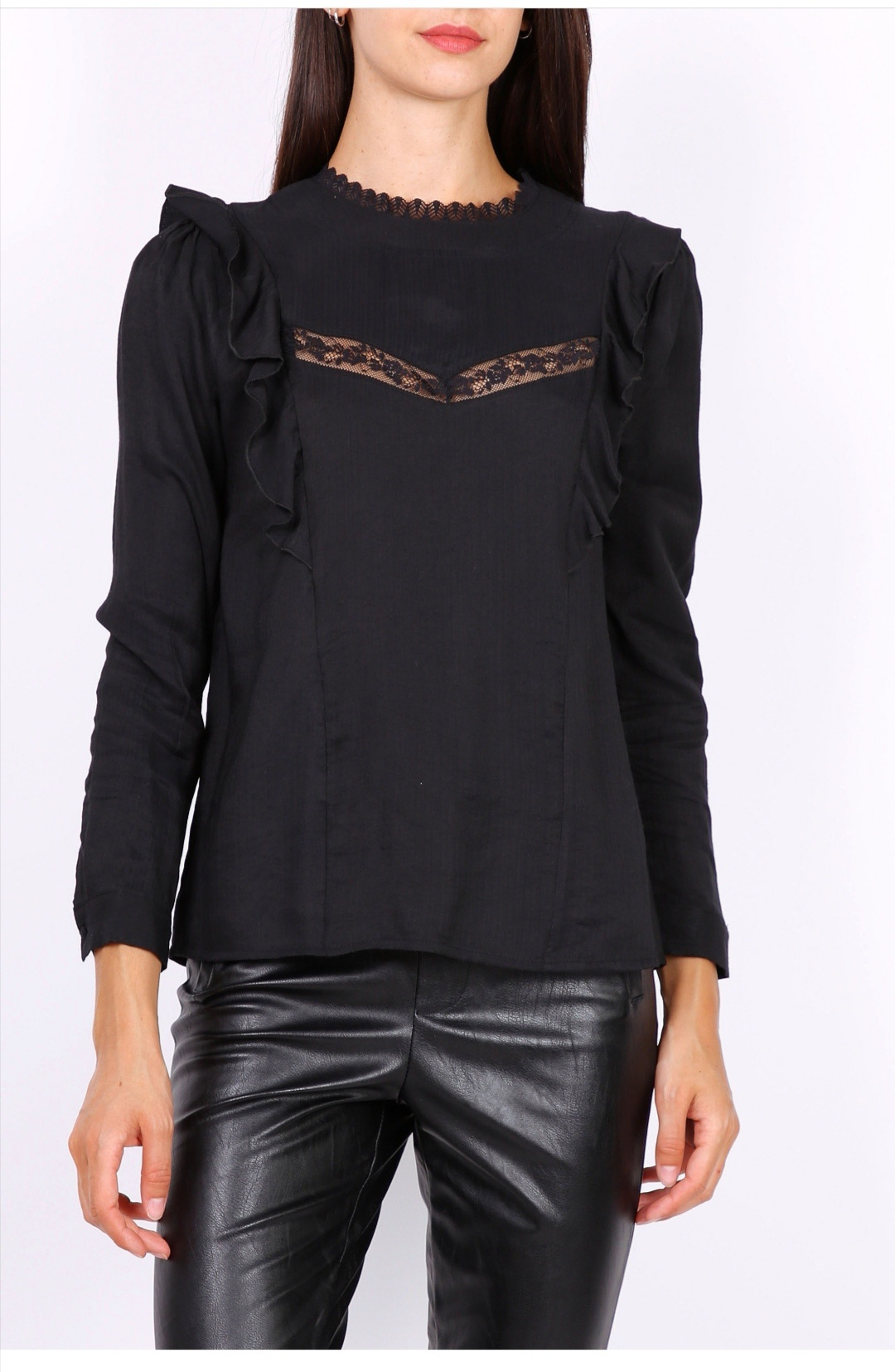 PEPITES blouse lea noire-1