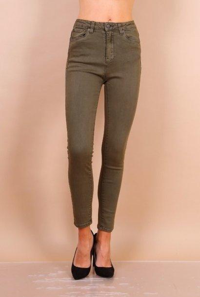 PEPITES jeans leon kaki