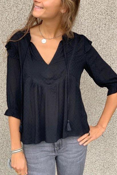 PEPITES blouse jessica noir