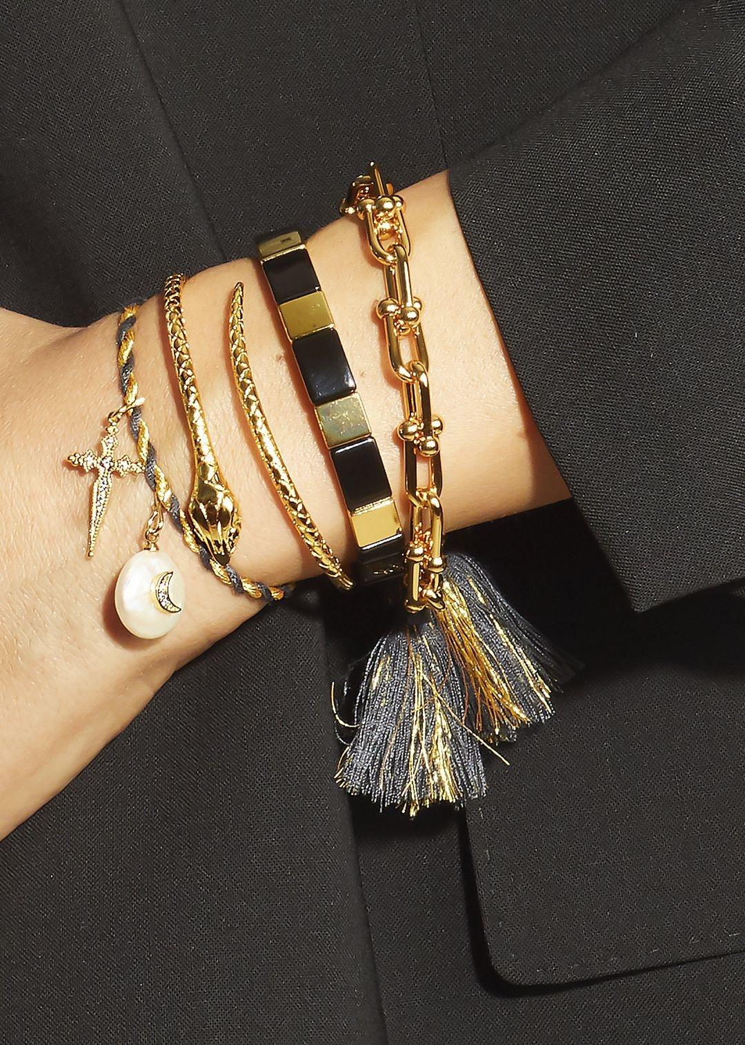 MYA BAY bracelet black rainbow-2