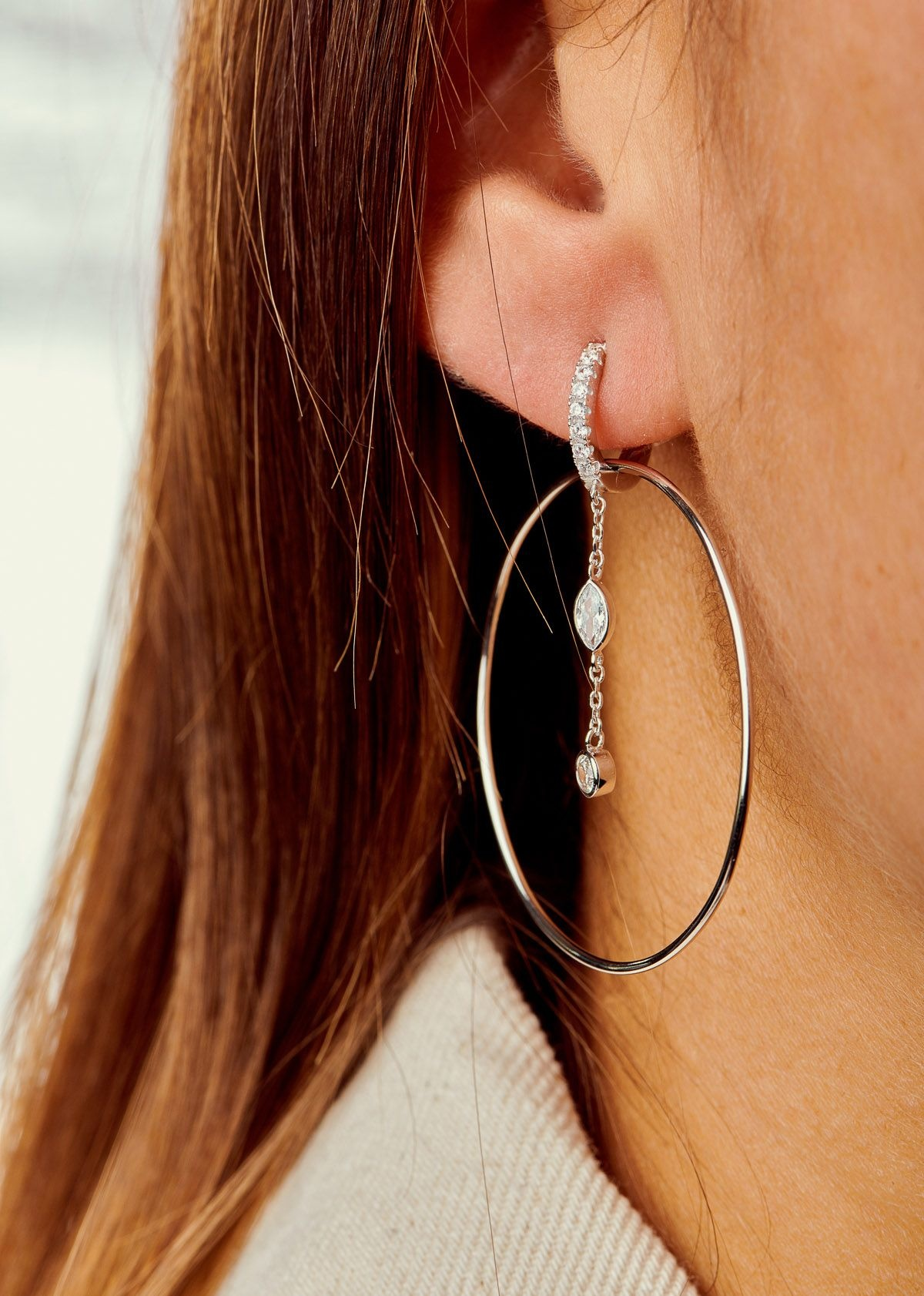 MYA BAY boucles d'oreilles royal hoops-3