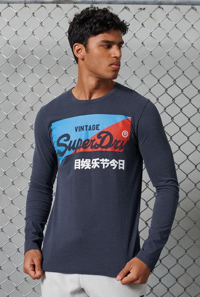 SUPERDRY t-shirt marine vintage