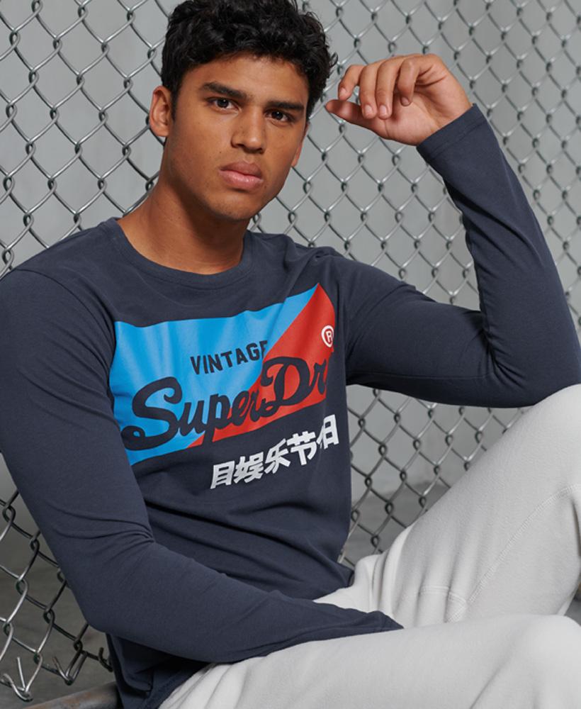 SUPERDRY t-shirt marine vintage-3