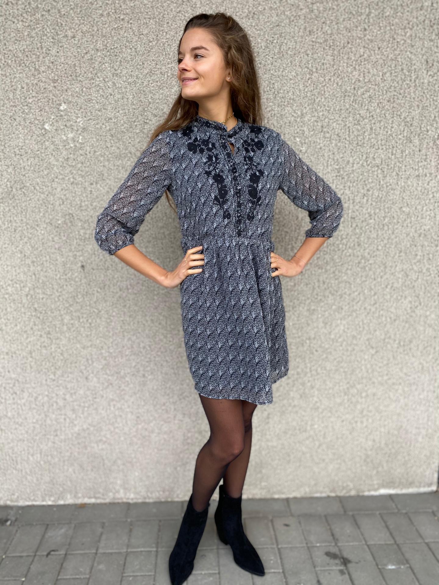 PEPITES robe cindy noir-1