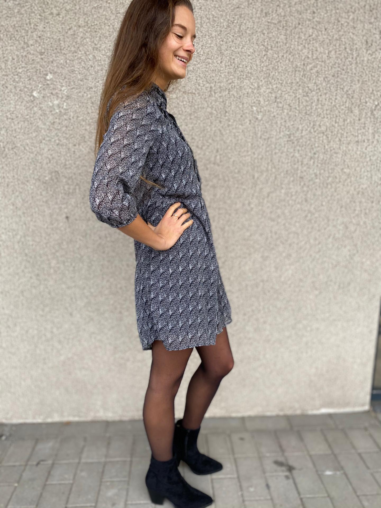 PEPITES robe cindy noir-3