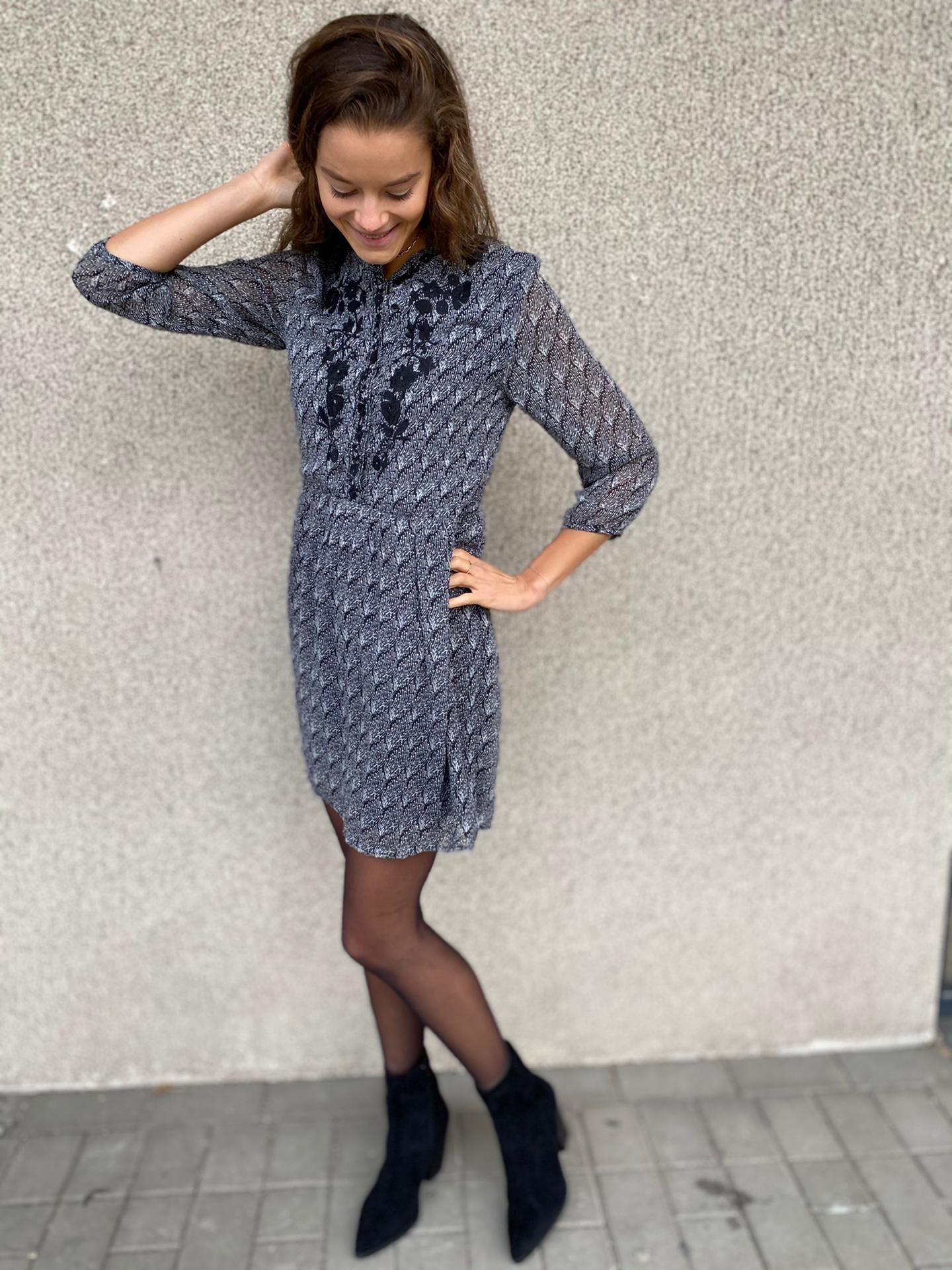 PEPITES robe cindy noir-5
