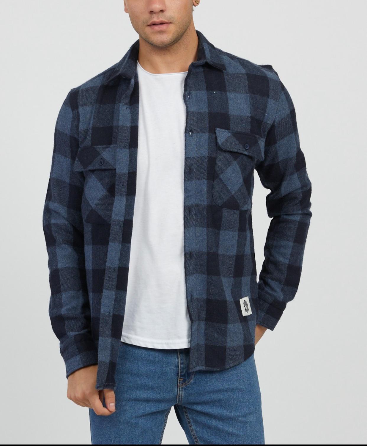 MYSTORE chemise charles bleu-1
