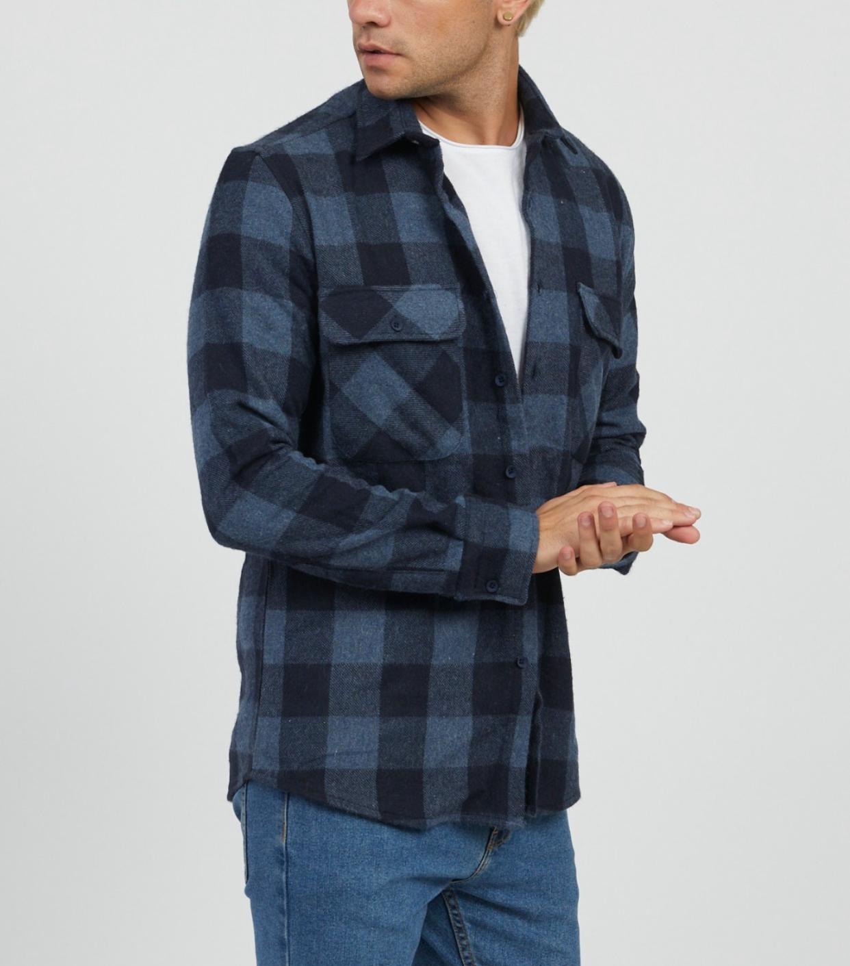 MYSTORE chemise charles bleu-4