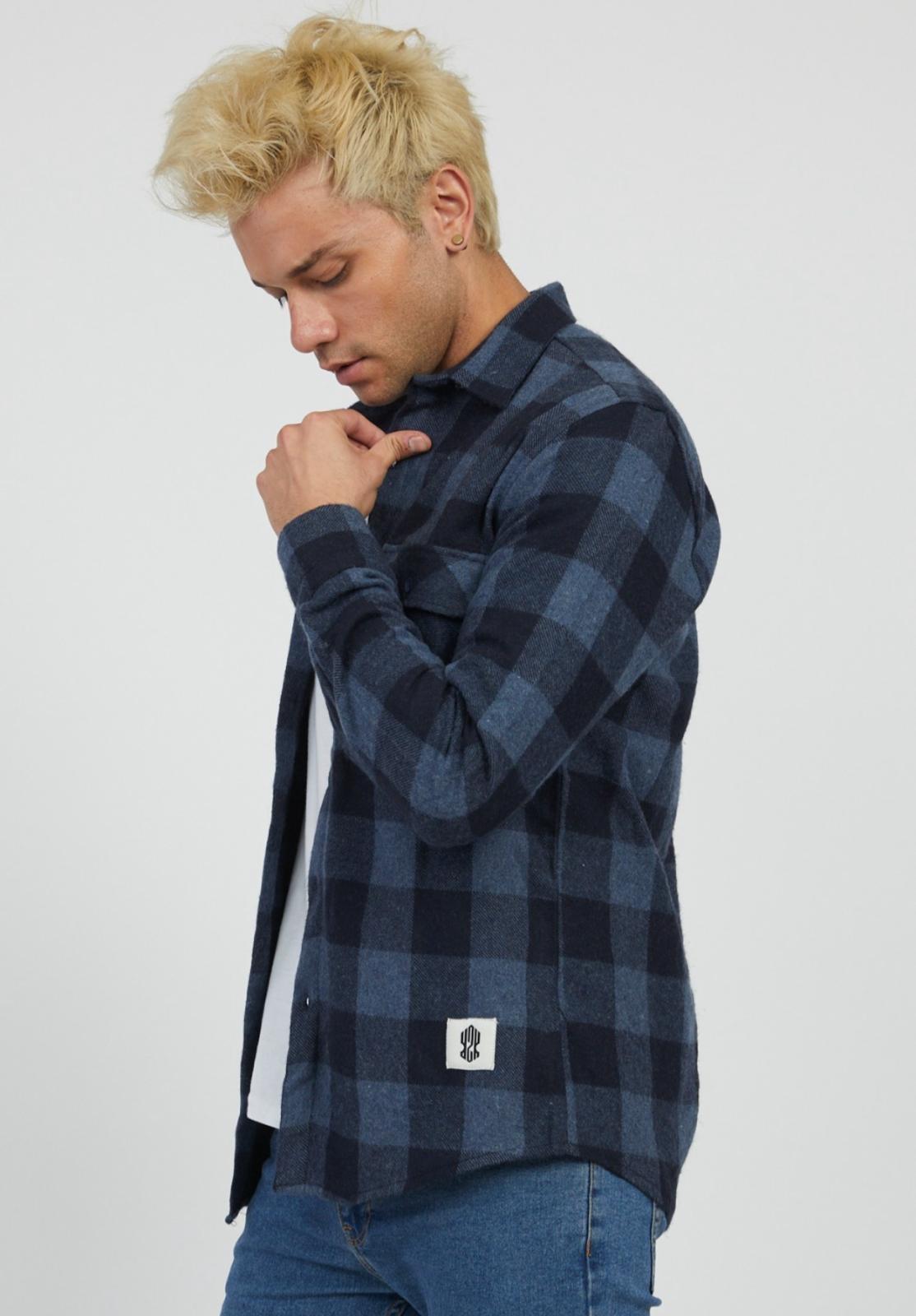 MYSTORE chemise charles bleu-5