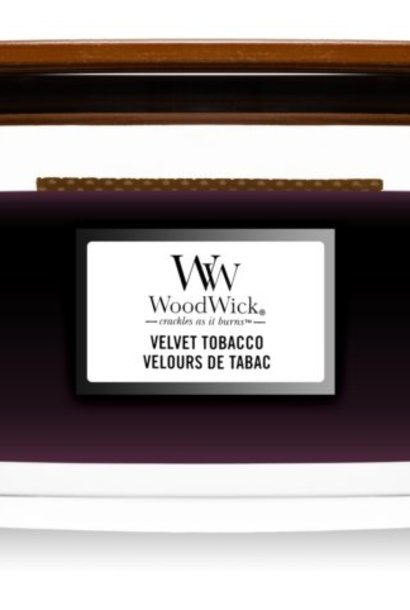 WOODWICK bougie velvet tobacco ellipse