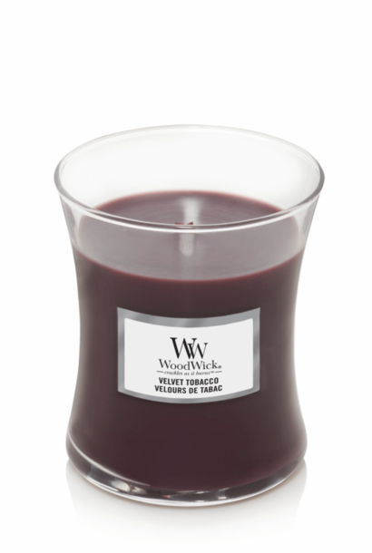 WOODWICK bougie velvet tobacco medium