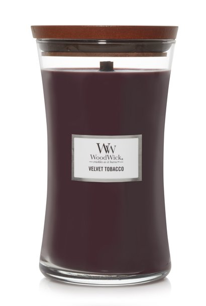 WOODWICK bougie  velvet tobacco large