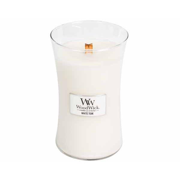WOODWICK bougie white teak large-1