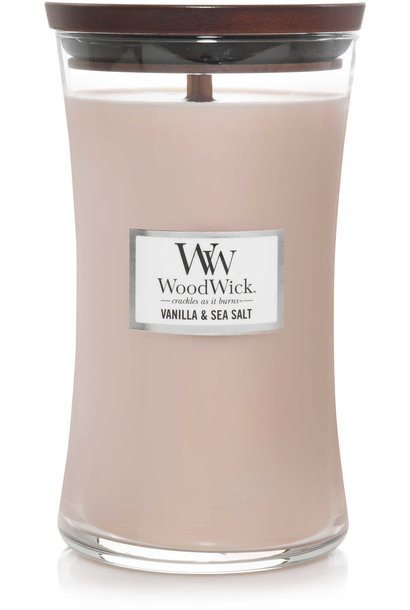WOODWICK bougie vanille&sel marin large