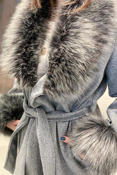 PEPITES veste amanda grise