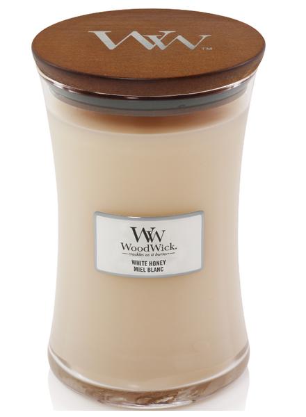 WOODWICK bougie miel blanc large-1