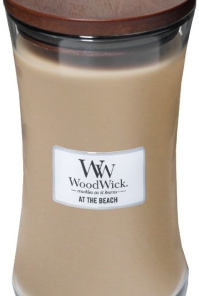 WOOD WICK  bougie  at the beach large